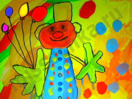 яркий детский рисунок