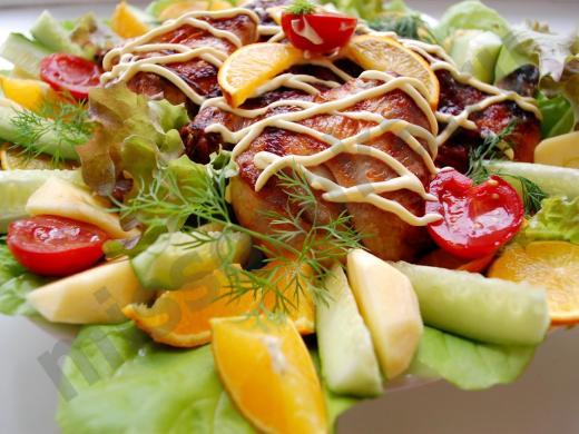фазан_с_овощами_фруктами_и_зеленью