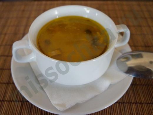 суп с грибной лапшой