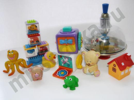 юла, развивающие кубики, осьминог, лягушка, мишка, домик, утёнок