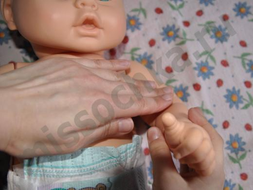 массаж ручки ребёнка