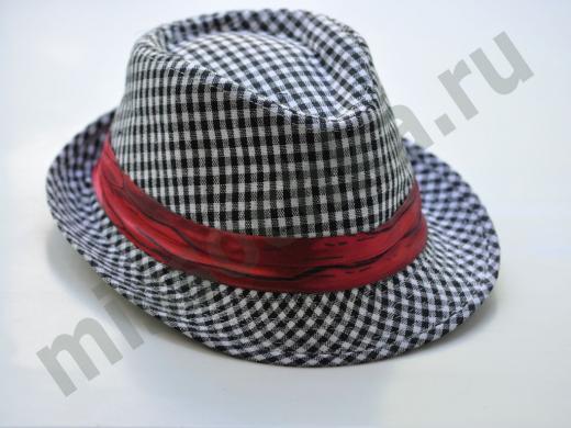 шляпа в мелкую клетку