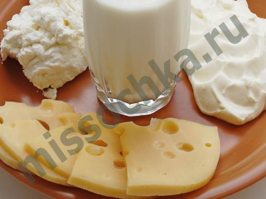 кисломолочные продукты на тарелке