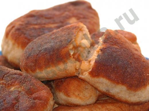 жаренные пирожки с яблочной начинкой